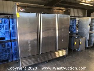 US Refrigerator 3-Door Reach-In Vertical Cooler