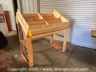 Wood Fresh Produce Display