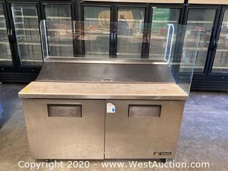 TRUE Sandwich Prep Station and Under-Counter Refrigerator