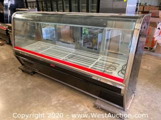 """McCray Curved Glass Meat Display Service Counter 98"""""""