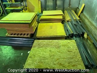 Bulk Lot Of Particle Board And Plywood For Pallet Racking