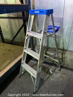 4' Werner Aluminum Step Ladder