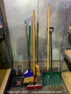 Bulk Lot; Brooms and Shovel