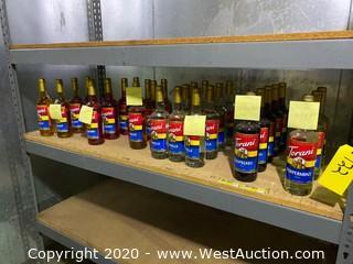 Approximately (30) Unopened Bottles Of Torani Italian Syrups