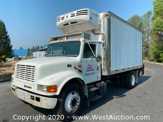 2001 International 4700 18' Box Truck with Thermo King Refrigerator