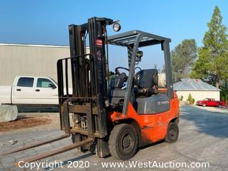 Toyota 7FGU15 2500 Lb Forklift