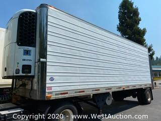 1996 28' Refrigerated Box Semi Trailer With Thermo King SB-210+