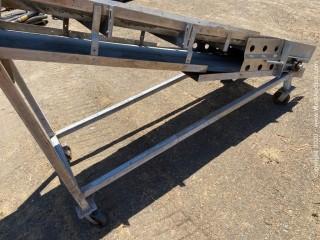 "Mobile Conveyor 24"" wide 10' long"