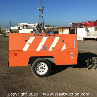 Sullivan Palatek D185Q Air Compressor on Trailer