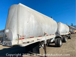 (2) Clough Pneumatic Double Dry Bulk Tank Trailers