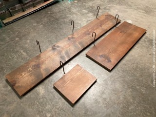 (35) Assorted Wooden Shelves With Hardware
