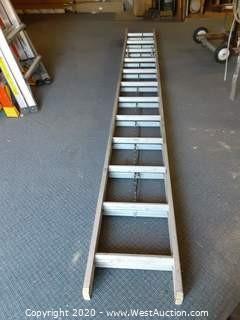 24' Werner Aluminum Extension Ladder