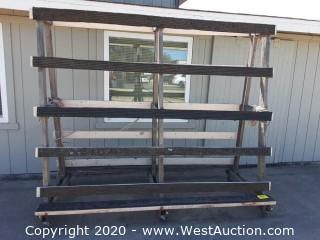 Rolling A-Frame Glass Rack