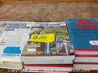 Stack of CRL Catalogs/Books