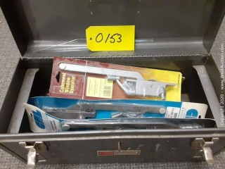 Toolbox with Window Hinges And Parts