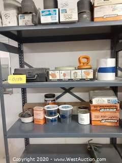 "Aluminium 72"" Shelf Rack with Content of Supplies"