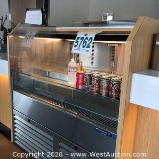 Stainless Steel Horizontal Wasserstrom DCS Group Refrigerator Display