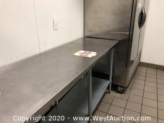 Stainless Steel Commercial Work 6' Table 18 Gauge