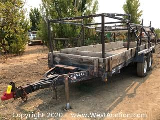 Spencer Double Axle Trailer with Custom Winched Rack