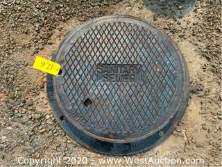 "32"" Metal Manhole Cover"