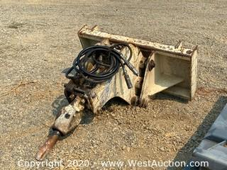 Skid Steer Jackhammer Attachment