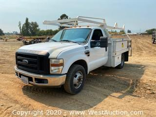 2009 Ford F-350 Super Duty Flatbed Truck with Utility Boxes