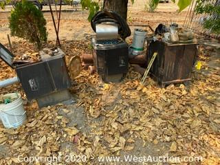 (3) Assorted Size/Style Wood Pellet Stoves