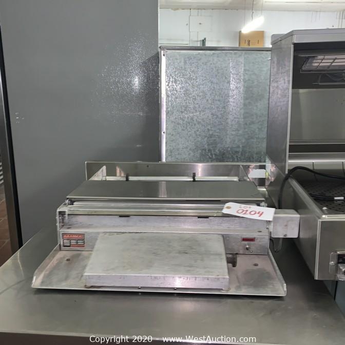 Online Auction of Restaurant Equipment