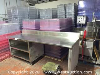 8' Stainless Steel Prep Working Table