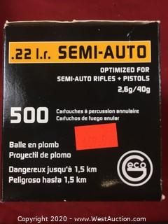 Geco High Velocity Semi Auto.22LR Ammo 500 Rounds