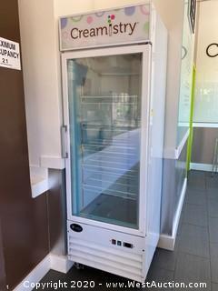 Saba Air Single Glass Door Freezer