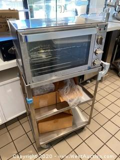 Waring 500x Convection Oven On 3 Tier Stainless Steel Cart