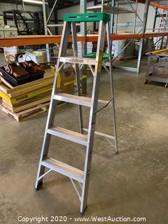 5' Werner Aluminum Stepladder