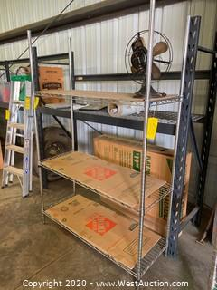 Commercial Shelving Unit With Fan