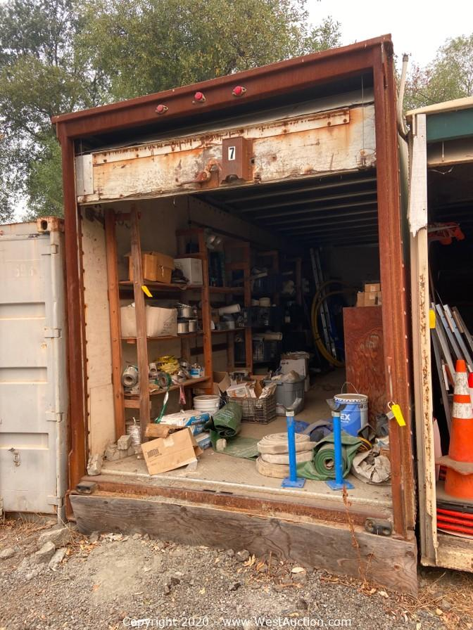 Excavator, Trailers, Tampering Equipment, and Tools from Construction Company