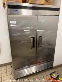 Atosa Reach-In 2 Solid Door Commercial Vertical Freezer