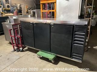 BeverageAir Solid Door Back Bar Refrigerator