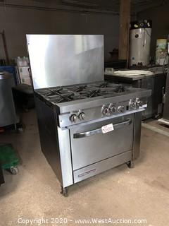 Southbend S36D Natural Gas Stove and Standard Oven