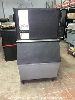 Ice O-Matic 400 Lbs Ice Machine With Bin