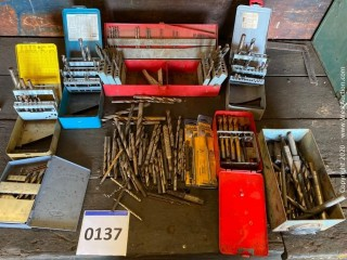 Assorted Drill Bits with Storage Cases