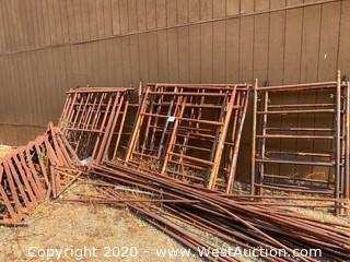 Scaffolding and Barrel Rack
