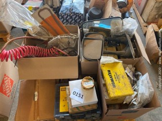 Bulk Lot: Trailer Air Hose Parts, Mirrors, Komatsu O Rings