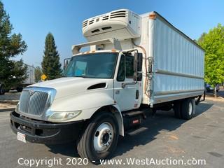 2005 International 4300 SBA 22' Box Truck with Thermo King Refrigerator
