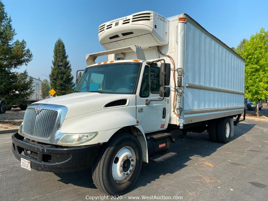 Online Auction of Three International Reefer Box Trucks, Refrigerated Trailer and More