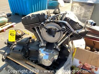 Twin-Cam Harley Davidson Motorcycle Engine