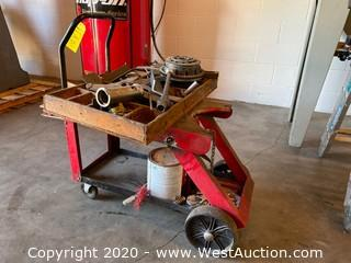 Rolling Welding Cart With Contents