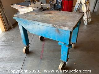 Rolling Steel Table (Vise Not Included)