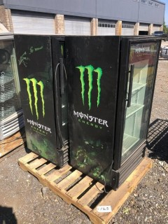 (2) Monster Logo Refrigerated Coolers (Non-Operational)