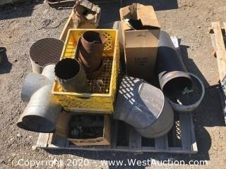 Pallet of New And Used Duct Supplies