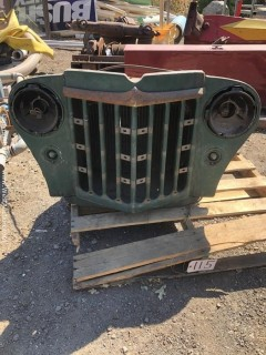 Circa 1955 Jeep Willys Grill With Radiator
